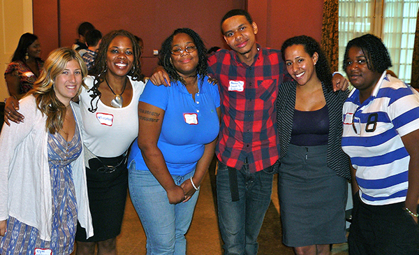 Sara and Michele with Youth Network members in Albany, 2011